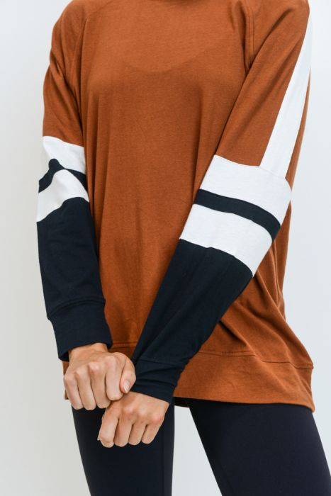 Color Block Striped Pullover