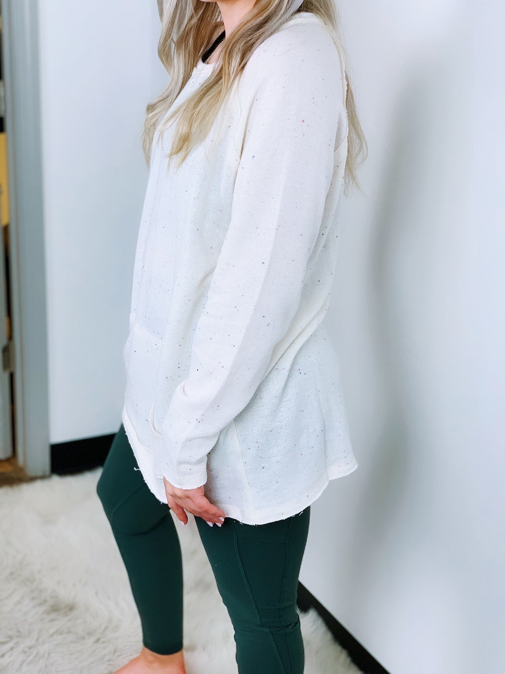 Speckled Knit Sweatshirt