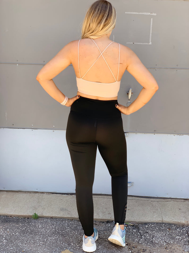 Laser Cut High Waist Leggings
