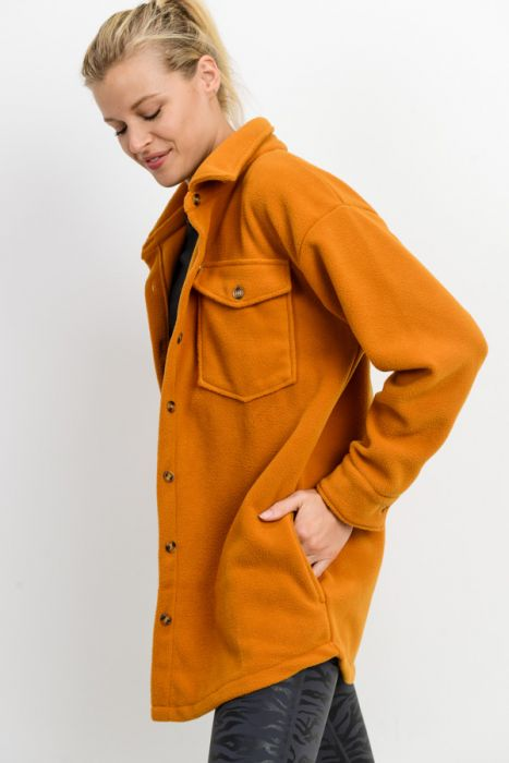Button-Up Fleece Parka
