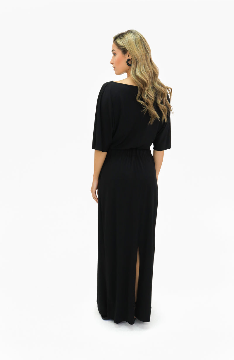 One-Shoulder Dress Back Slit - VKY & Co
