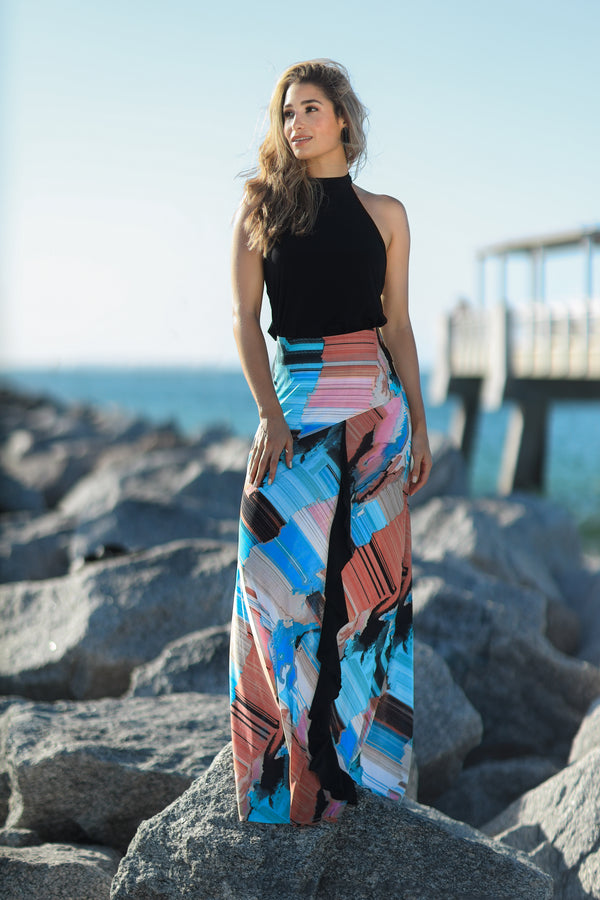 Maxi Skirt with Back Slit