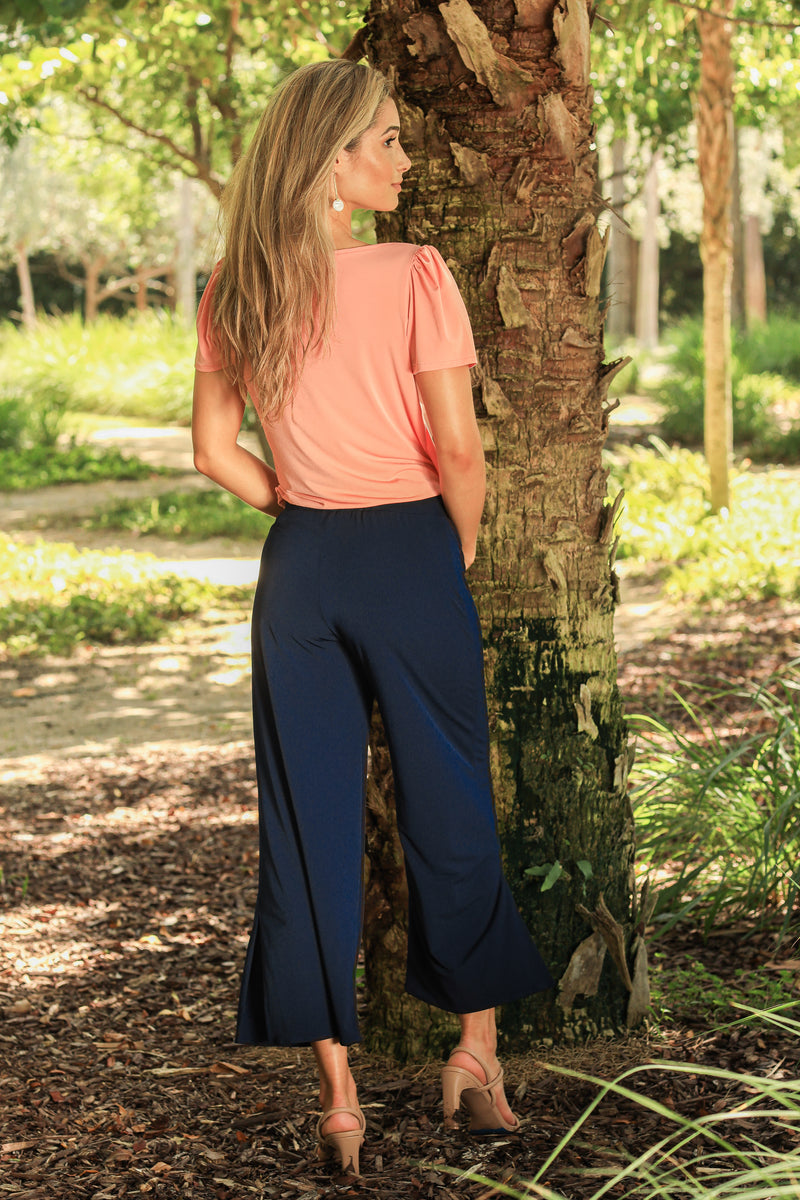 Capri Pants with Side Slits