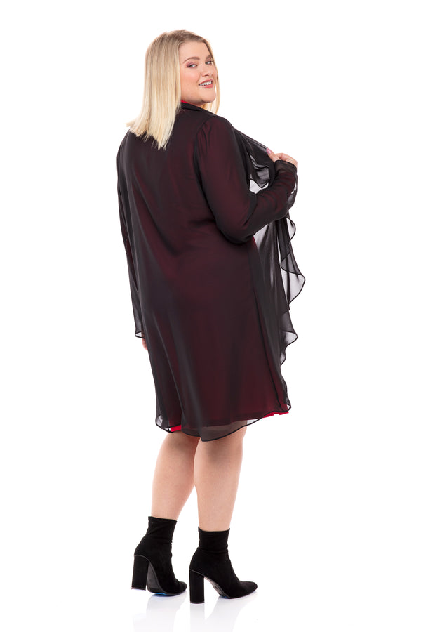 Waterfall Chiffon Duster