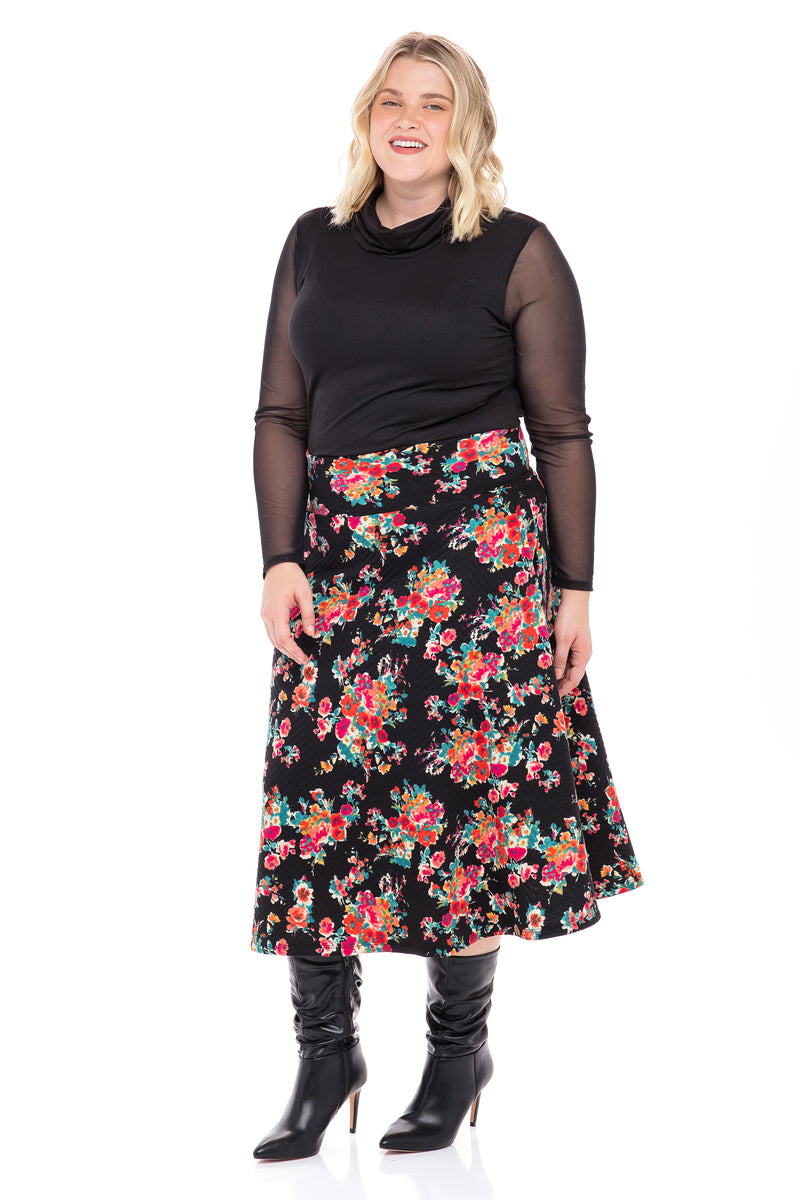 High Waist Flowy Skirt with Pockets