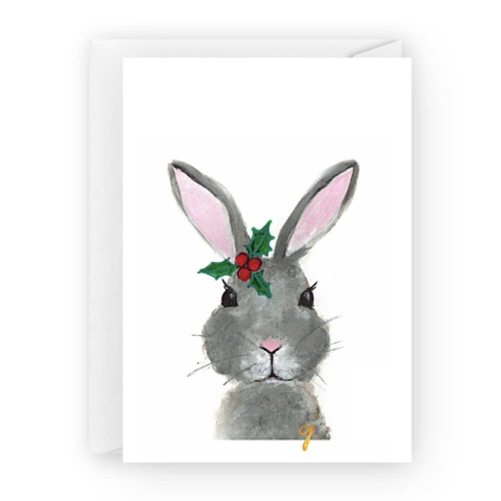 bunny holiday  holiday christmas greeting card