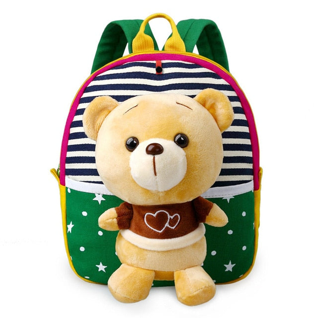 Cute Plush Bear Baby Boys Preschool Bags