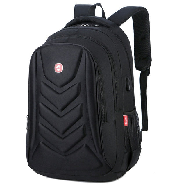 Mens USB Charge Waterproof Laptop Backpacks