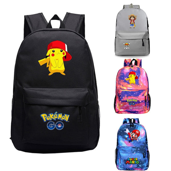 Gamer's Anime Backpack Travel ONE PIECE  School Bags For Teenage