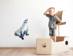 Caspian Seal Wall Decal Earless Seal Watercolor Removable Vinyl Wall Sticker | DecalBaby