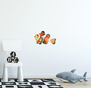 Clownfish Wall Decal Watercolor Tropical Exotic Marine Fish Wall Sticker | DecalBaby