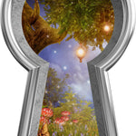 3D Keyhole Wall Decal Enchanted Lantern Tree Fantasy Removable Wall Sticker