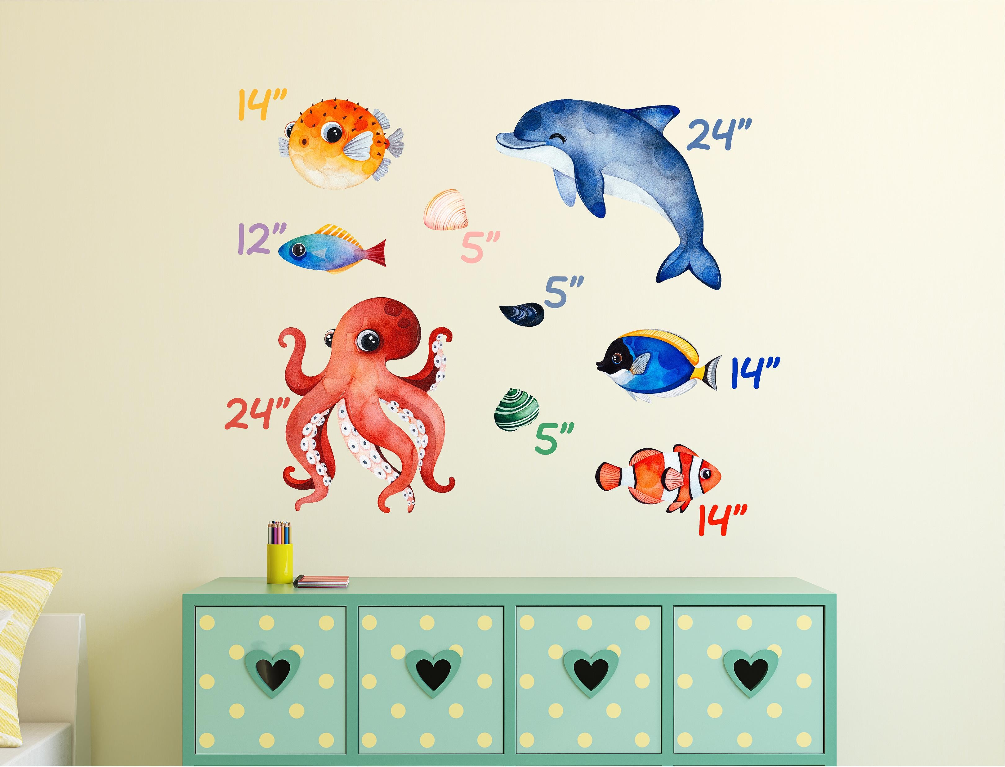 Underwater Sea Life Set #2 Wall Decal Sea Creatures Sea Animals Vinyl Wall Stickers | DecalBaby