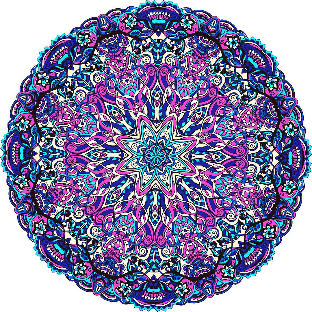 Mandala Wall Decal Removable Fabric Vinyl Wall Sticker