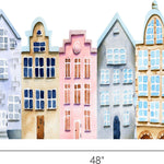 Watercolor Houses #3 Wall Decal European Cute Houses Scandinavian Removable Fabric Vinyl Wall Stickers Playroom Wall Art