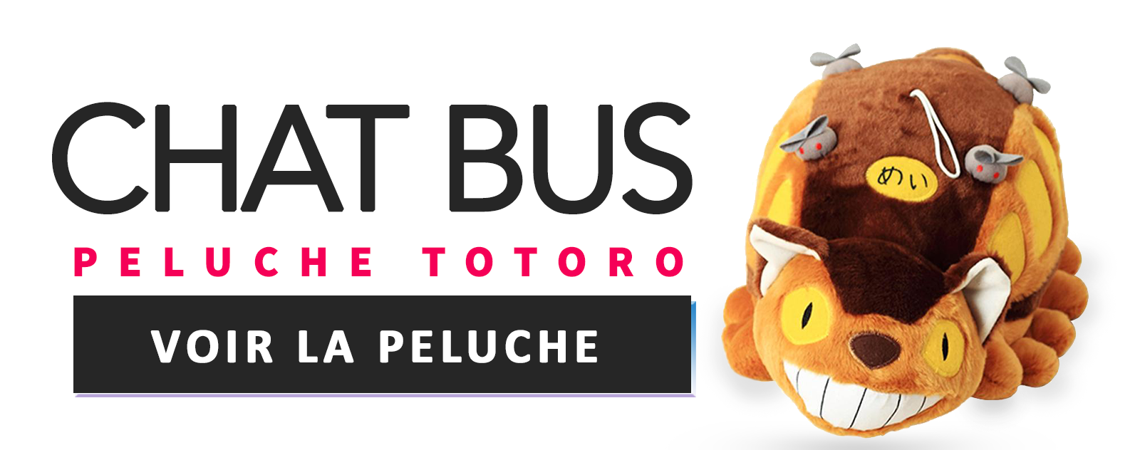 Peluche Chat Bus