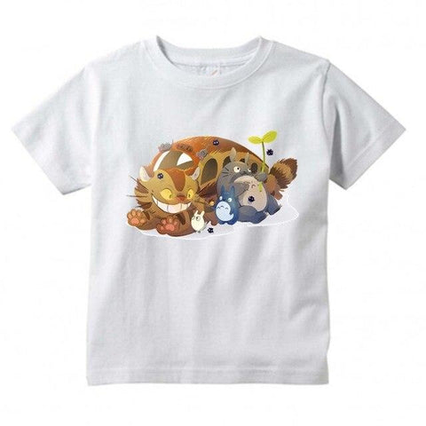 T-Shirt Enfant Totoro</br> Chat Bus