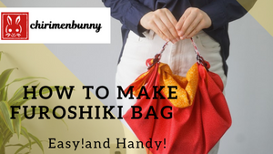 Furoshiki-Easy!How to make Furoshiki bag with Furoshiki belt.