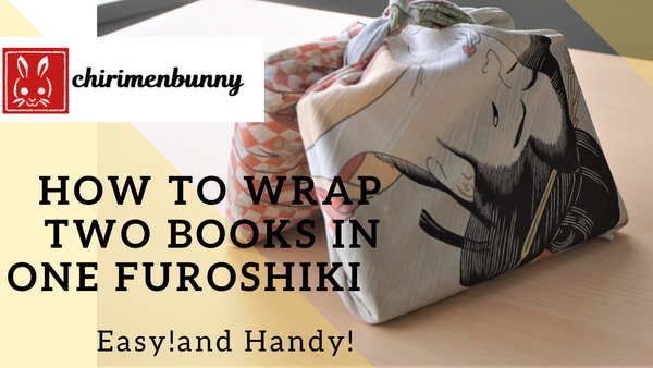 Furoshiki-how to wrap two books with ONE furoshiki/gift idea/wrapping idea/Eco friendly