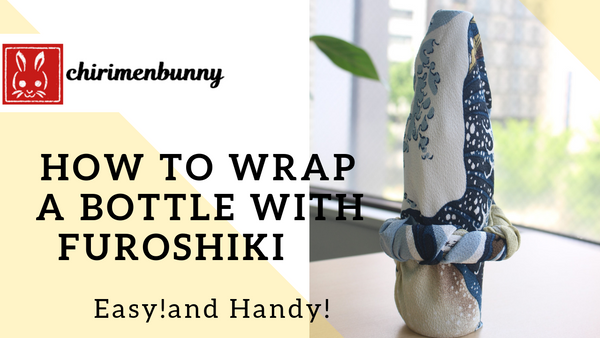 Furoshiki-How to wrap a bottle with Ukiyoe Furoshiki