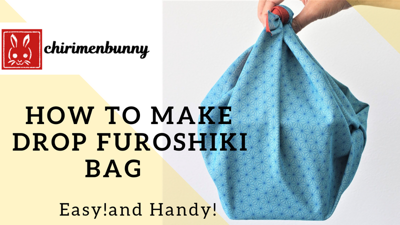 Furoshiki-How to make drop style furoshiki bag/Eco friendly
