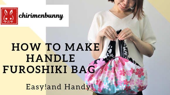 Furoshiki-How to make HANDLE FUROSHIKI BAG/EASY!