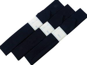 FREE SHIP-SALE!!! Three Koshi-himo Japanese Navy,dark blue,muslin,long size,for wearing Kimono,kitsuke