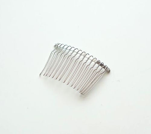 Hair Comb for Kanzashi Tsumami zaiku 15 teeth(silver)