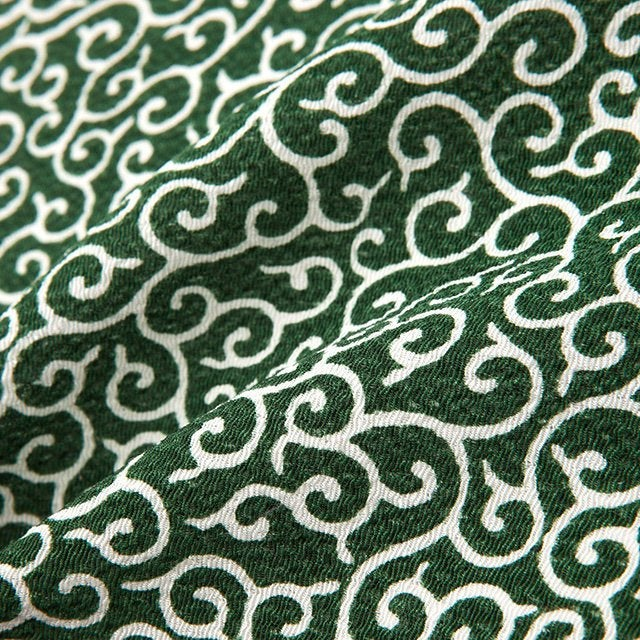 Unique Japanese fabric chirimen Karakusa pattern Arabesque