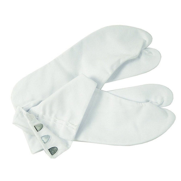 White Tabi socks for kimono from casual to formal  Traditional Japanese Four Kohaze Size L Size 39 Size 24 to 24.5 cm