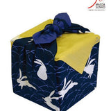 Furoshiki Japanese Traditional Cotton Cloth 50cmX50cm_Rubbits and moon