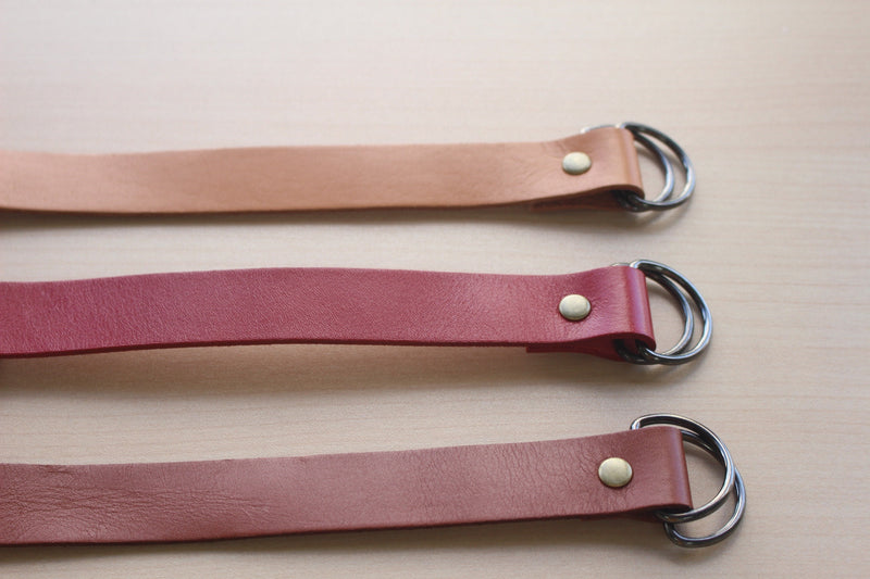 Furoshiki belt(leather) Beige,red,brown