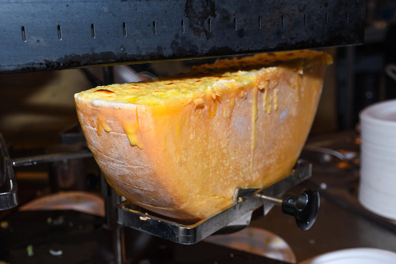 Melting Raclette Cheese