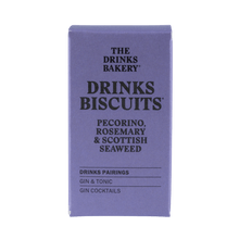 Load image into Gallery viewer, The Drinks Bakery Pecorino, Rosemary & Scottish Seaweed Drinks Biscuits