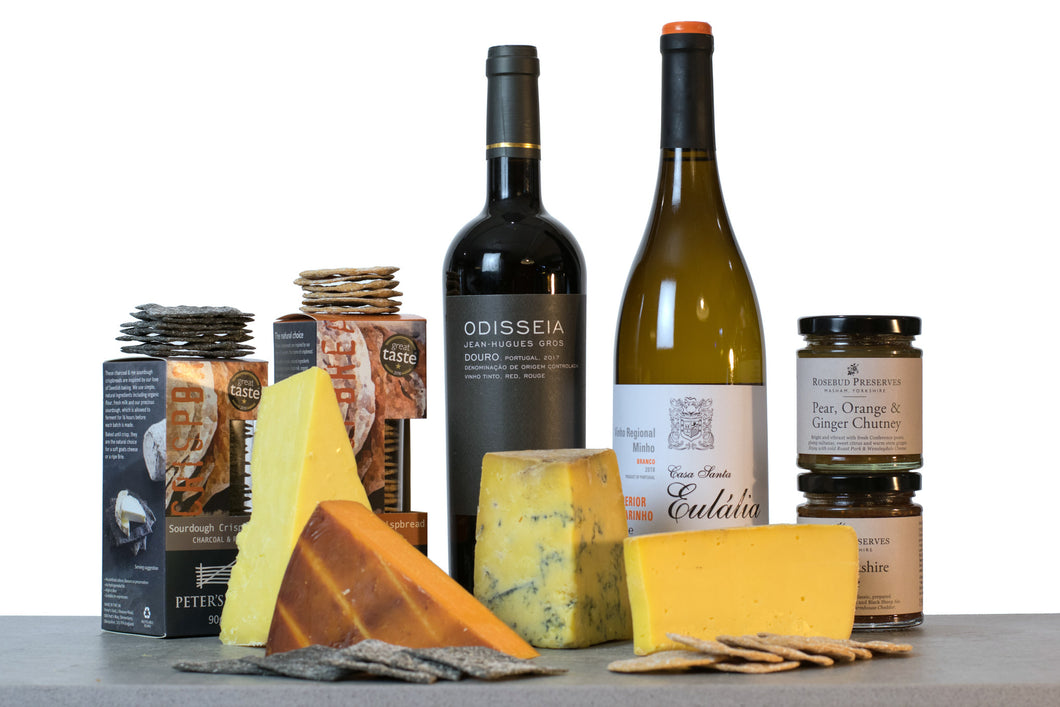 British cheese awards cheese and wine hamper UK