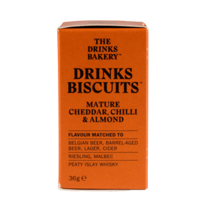 The Drinks Bakery Mature Cheddar, Smoked Chill & Almond Drinks Biscuits