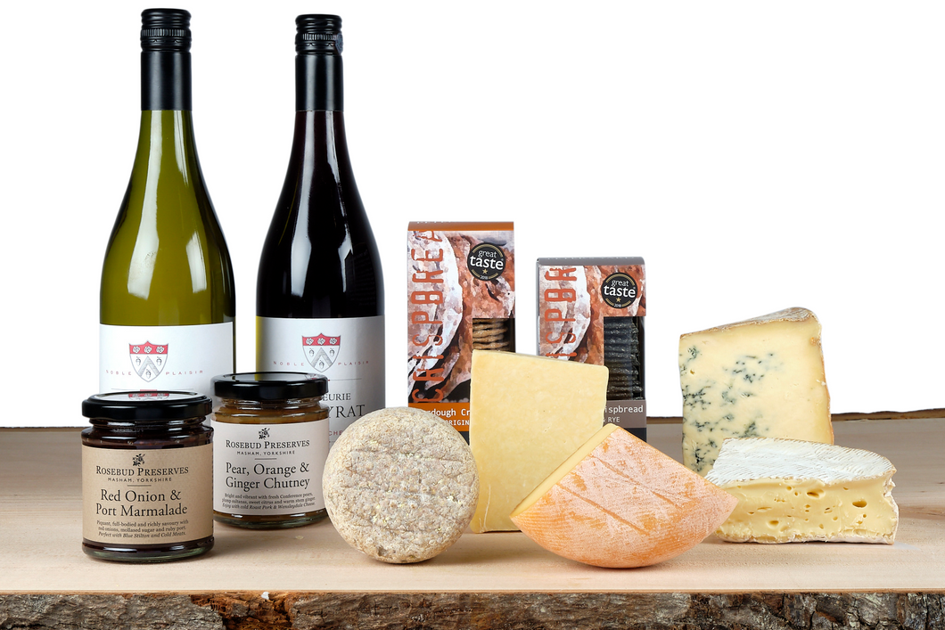 Cheese and wine gift hamper UK