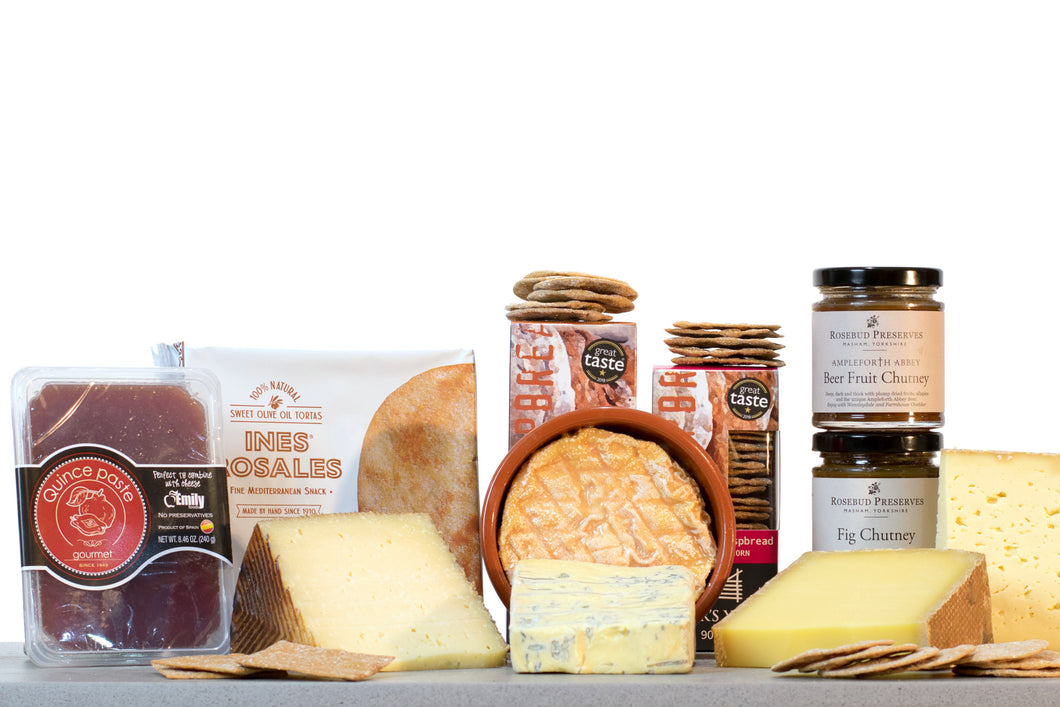 European cheese gift hamper UK Manchego and Comte