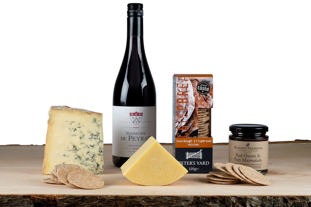 Cheese and Red Wine Gift Hamper UK
