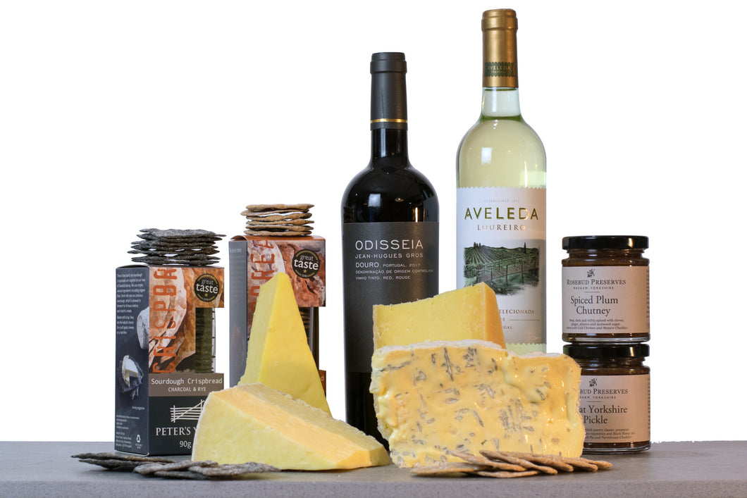 great taste aware cheese and wine hamper UK