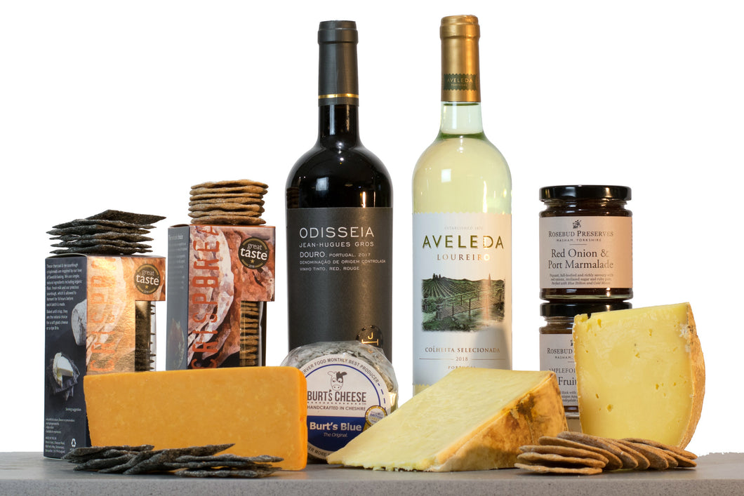 Northerner cheese and wine gift hamper UK