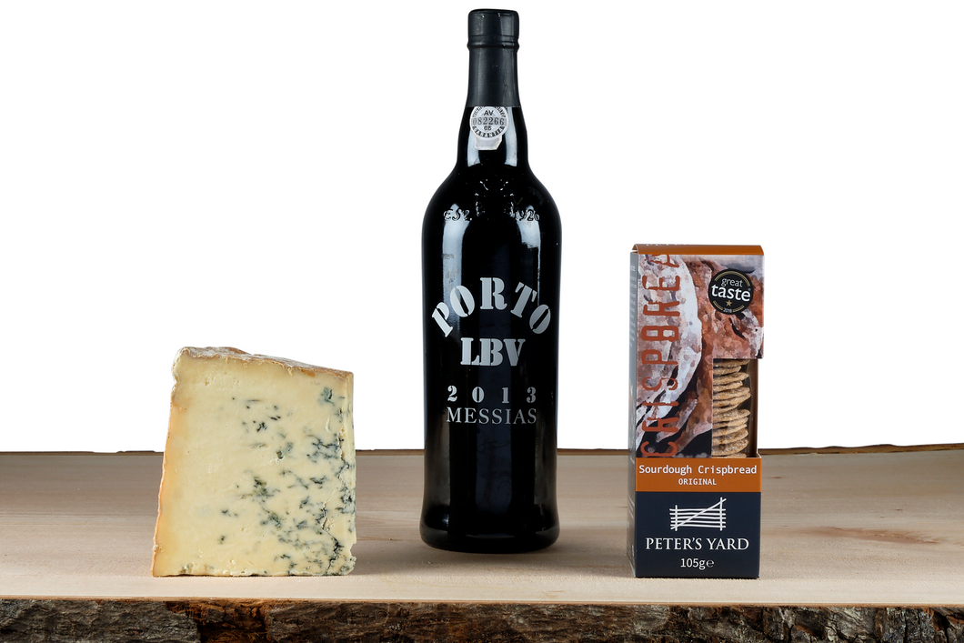Port and blue stilton cheese gift set