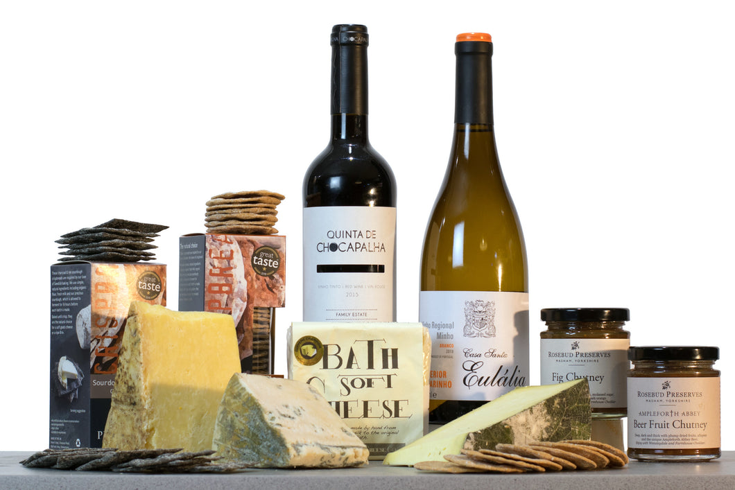 Southern Belles Cheese Gift Collection (With Wine)