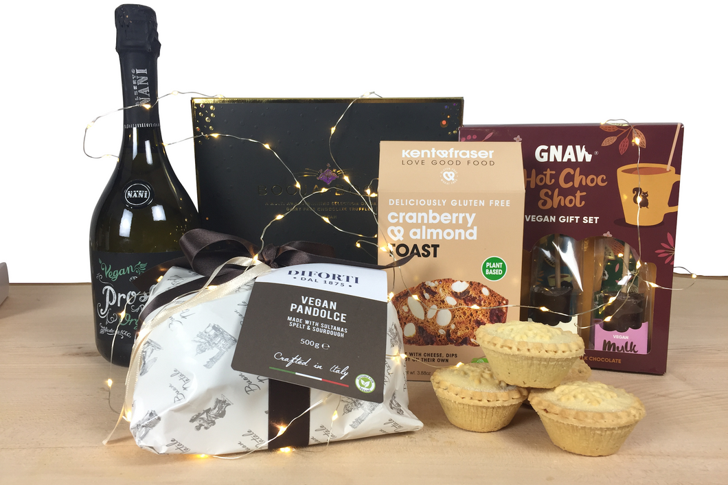 Vegan Gourmet Christmas Hamper with Prosecco