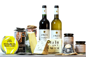 vegetarian cheese and wine gift hamper UK