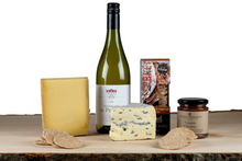Load image into Gallery viewer, cheese and white wine gift hamper UK
