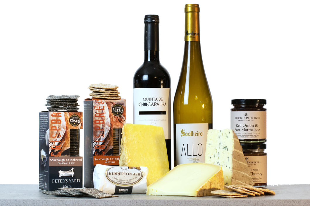 World Cheese Awards - Gold Medal Gift Collection (With Wine), wine gift sets, luxury hampers