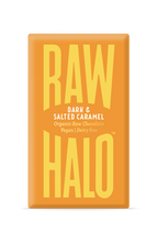 Load image into Gallery viewer, Raw Halo Artisan Raw Chocolate – Dark & Salted Caramel