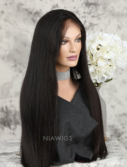 Silk Base Silky Straight Human Hair Full Stretchable Lace Wigs