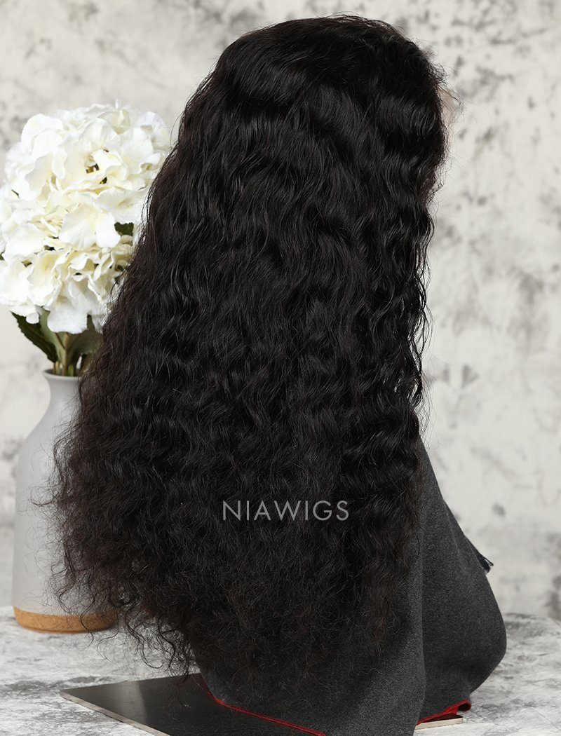 Load image into Gallery viewer, Loose Curly Human Hair Glueless Full Stretchable Wigs With Baby Hair